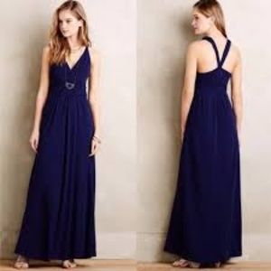 Anthropologie Maeve Blue Maxi Dress NWT 16